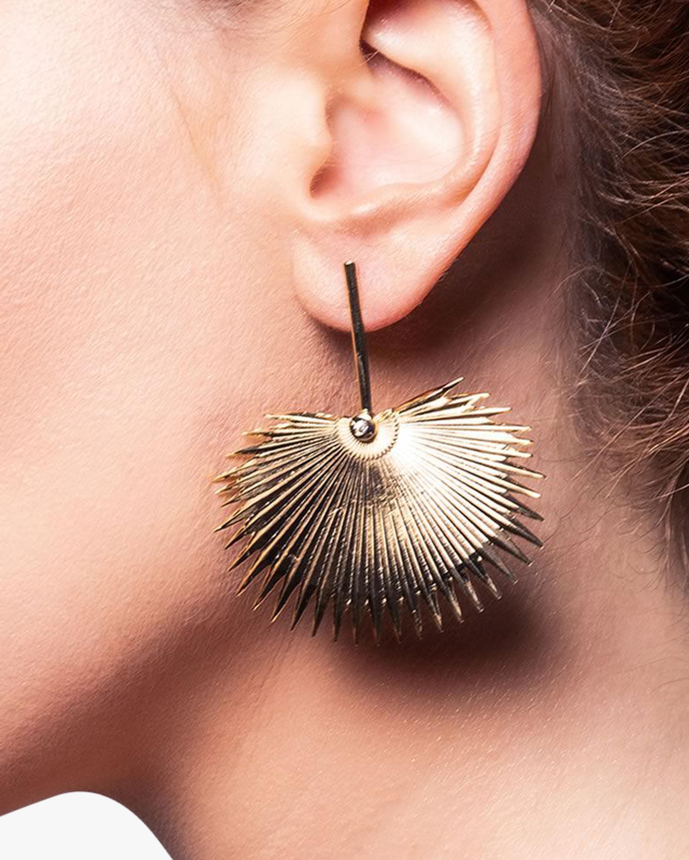 Essere Diamond Round Palm Drop Earrings 2