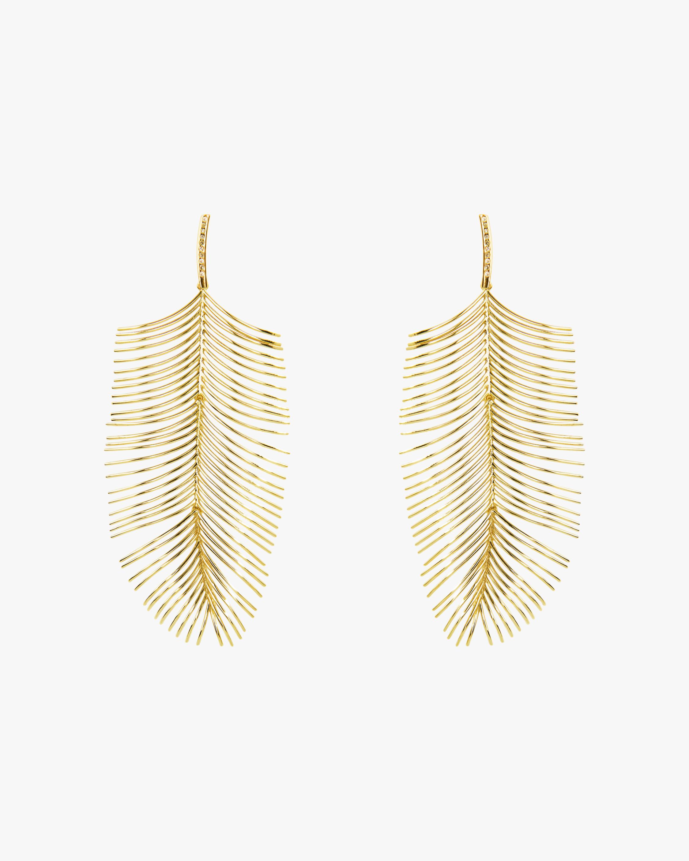 Essere Diamond Long Palm Drop Earrings 0
