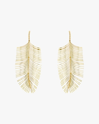 Essere Diamond Long Palm Drop Earrings 2