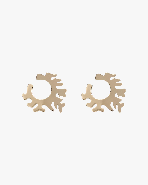 Essere Coral Hoop Earrings 0