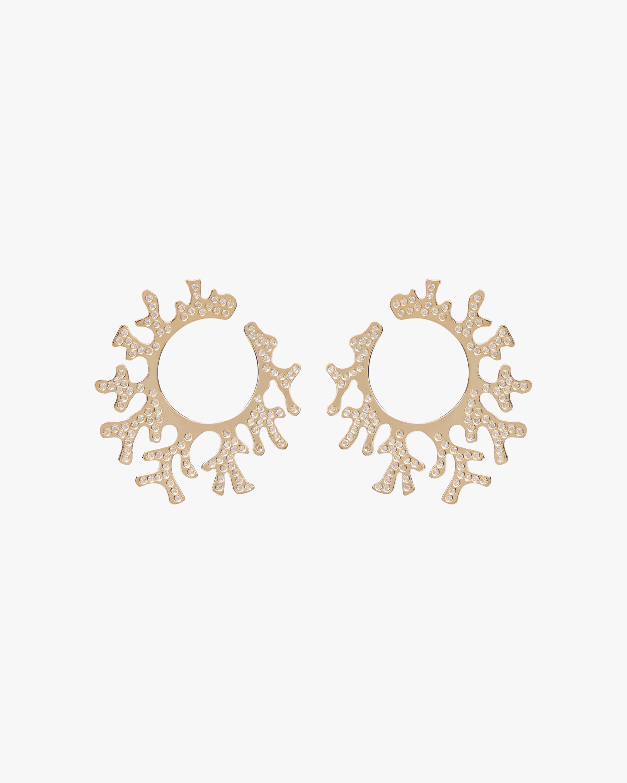 Essere Diamond Coral Hoop Earrings 1