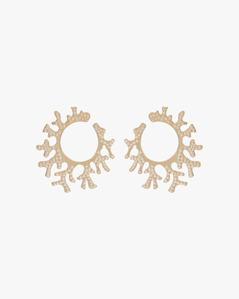 Essere Diamond Coral Hoop Earrings 1