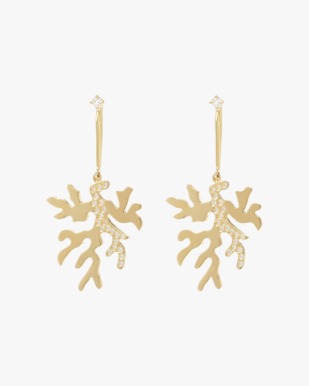 Essere Diamond Coral Drop Earrings 2