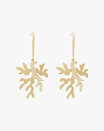 Essere Diamond Coral Drop Earrings 1