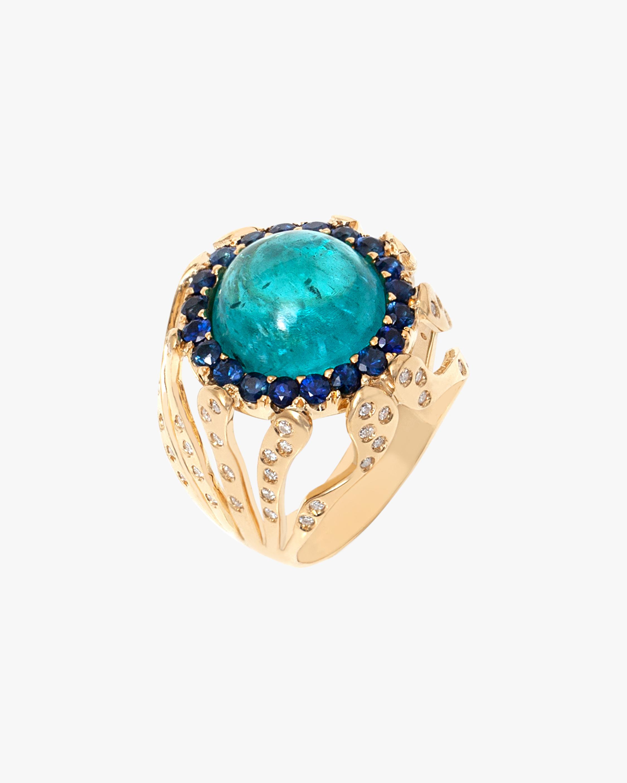Essere Apatite & Blue Sapphire Coral Ring 2