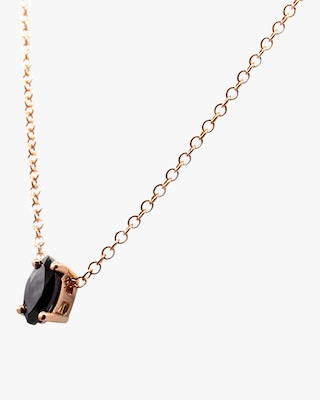 Natalie Marie Tiny Marquise Pendant Necklace 2