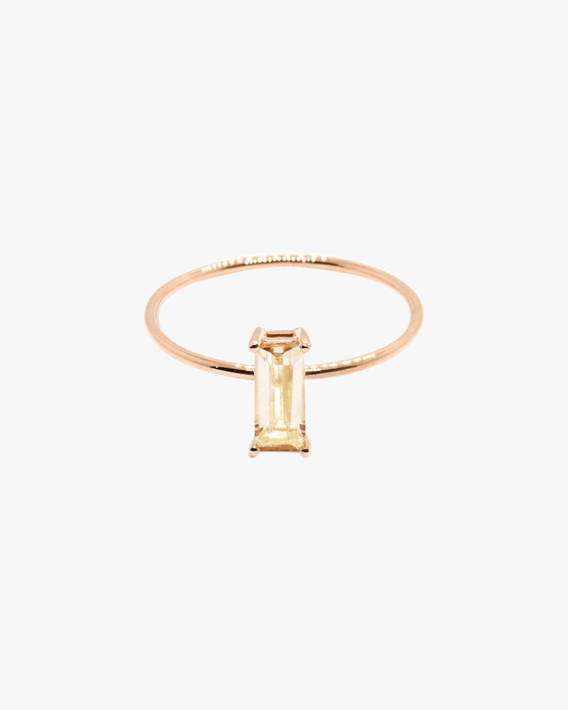 Natalie Marie Baguette Champagne Quartz Ring 0