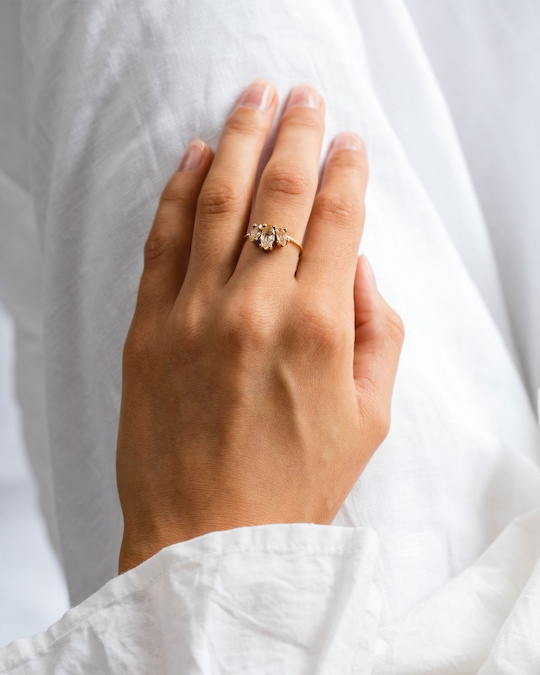 Natalie Marie Marquise Sun Ring 1