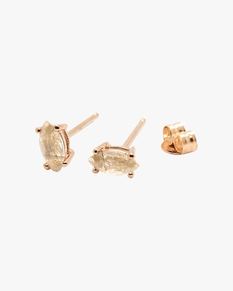 Natalie Marie Tiny Marquise Stud Earrings 1