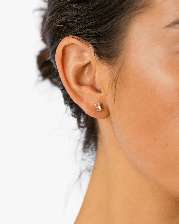 Natalie Marie Tiny Marquise Stud Earrings 2