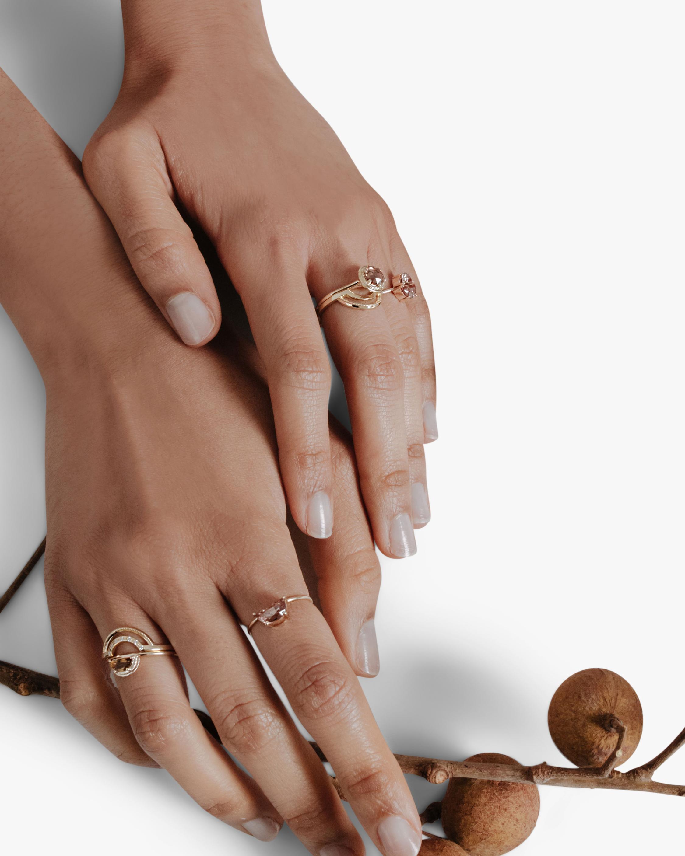 Natalie Marie Half Moon Ring 2
