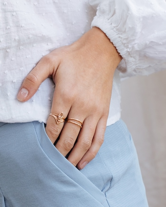 Natalie Marie Fine Stacking Ring 2