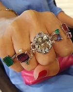 Dorion Soares Amethyst & Emerald Diamond Ring 2