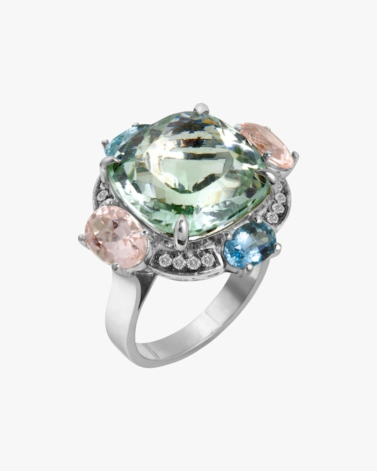 Dorion Soares Pastel Gemstone & Diamond Ring 0