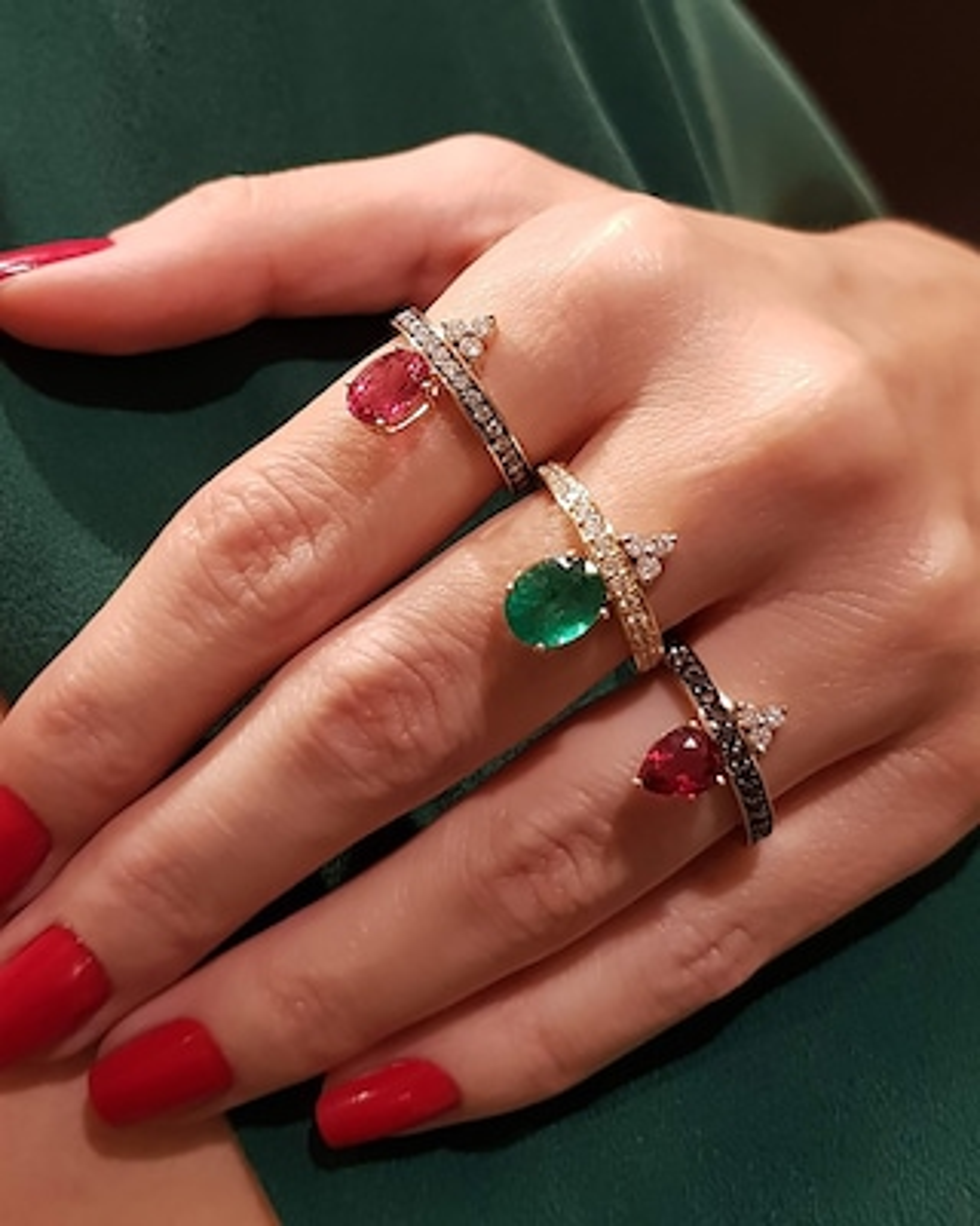 Dorion Soares Rubellite & Diamond Ring 2