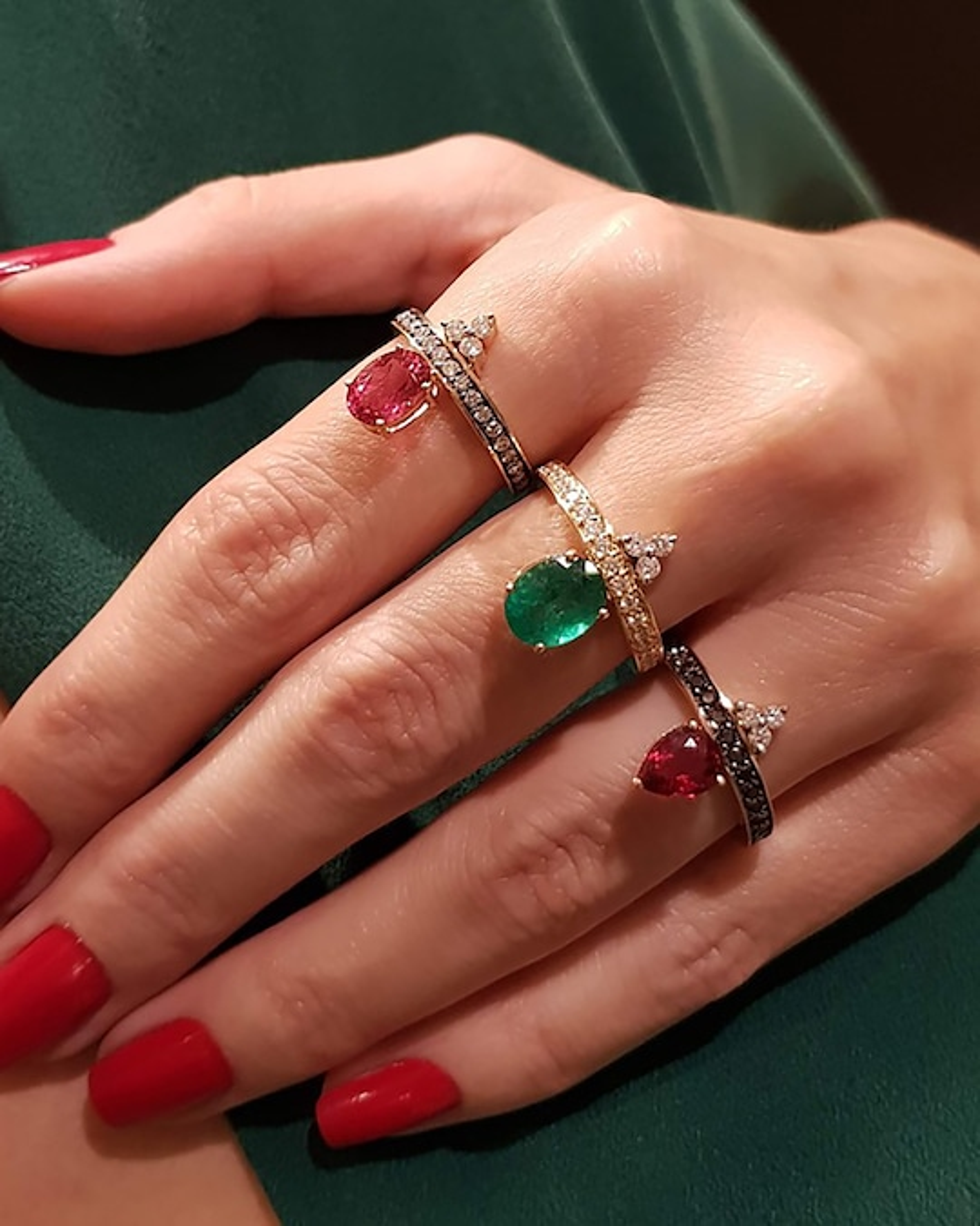Dorion Soares Rubellite & Diamond Ring 1