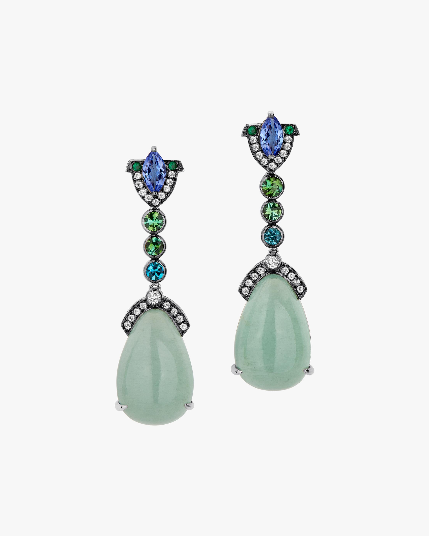 Dorion Soares Gemstone & Diamond Art Deco Earrings 2