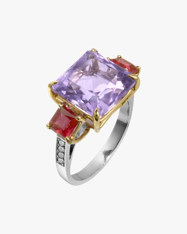 Dorion Soares Lavender Amethyst & Rubellite Diamond Ring 1
