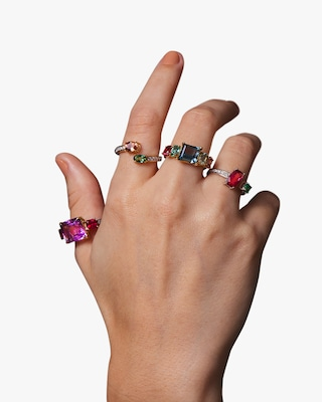 Dorion Soares Lavender Amethyst & Rubellite Diamond Ring 2