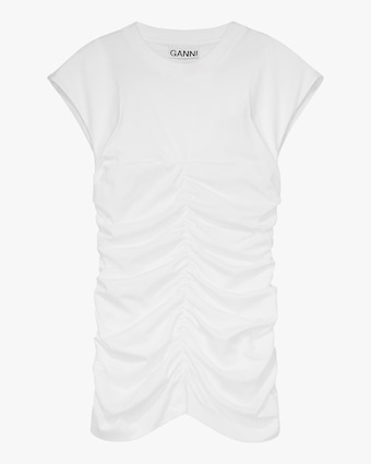 Ganni Fitted Ruched Top 1