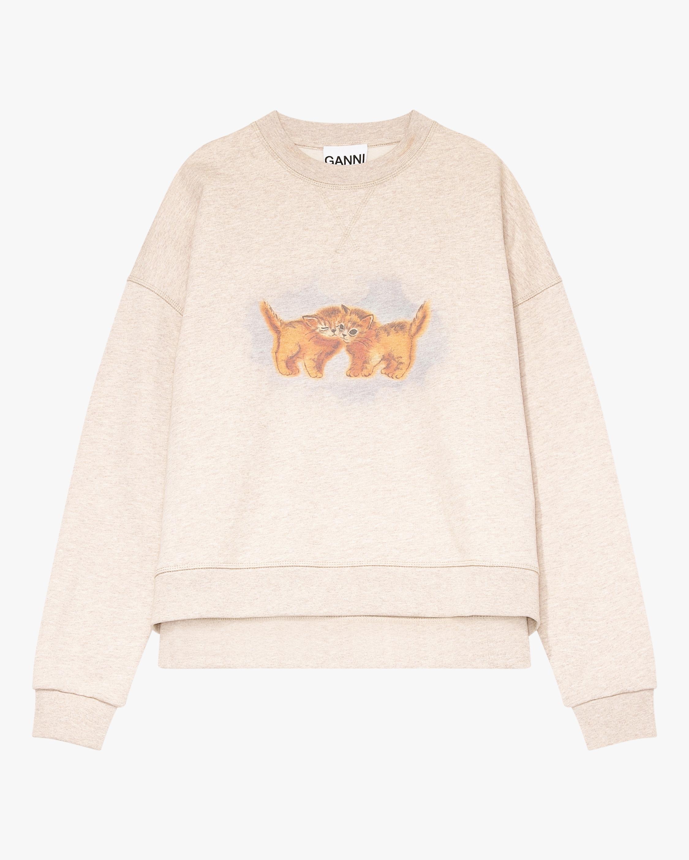 Ganni Cat Drop-Shoulder Sweatshirt 2