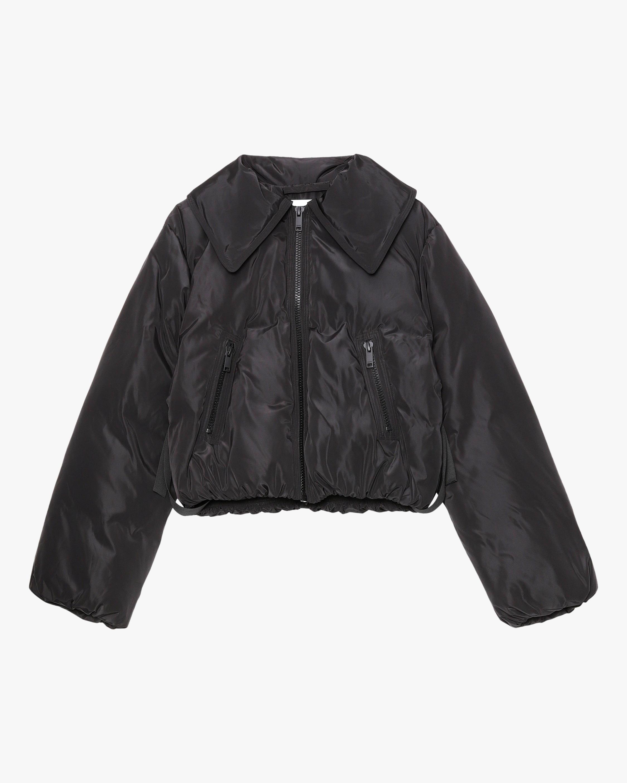 Ganni Cropped Puffer Jacket 0