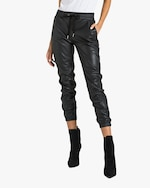 n:philanthropy Scarlett Vegan Leather Joggers 0