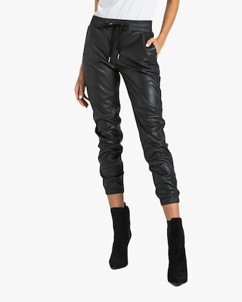 n:philanthropy Scarlett Vegan Leather Joggers 1