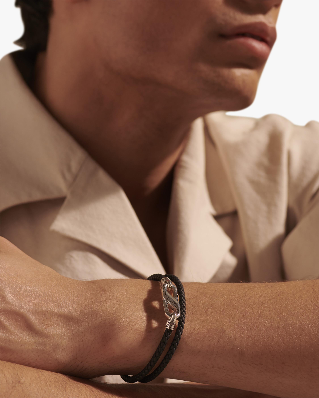 John Hardy Men's Double-Wrap Caribiner Bracelet 1