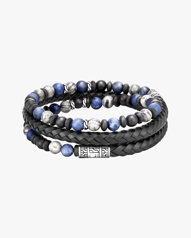John Hardy Men's Triple-Wrap Leather & Stone Bracelet 2