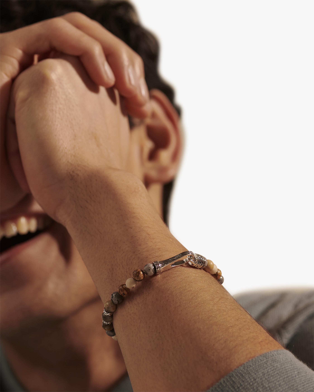 John Hardy Men's Wood Jasper & Picture Jasper Silver Bracelet 1