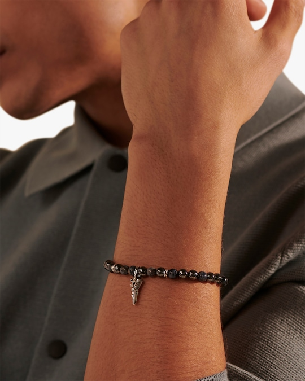 John Hardy Men's Keris Dagger Beaded Bracelet 1