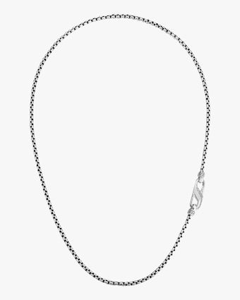 John Hardy Men's Silver Caribiner Box Chain 1