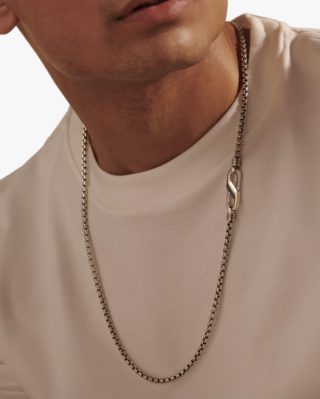 John Hardy Men's Silver Caribiner Box Chain 1