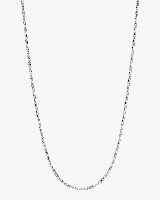 John Hardy Men's Silver Box Chain 1