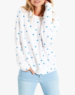 Stripe & Stare Blue Heart Sweatshirt 1