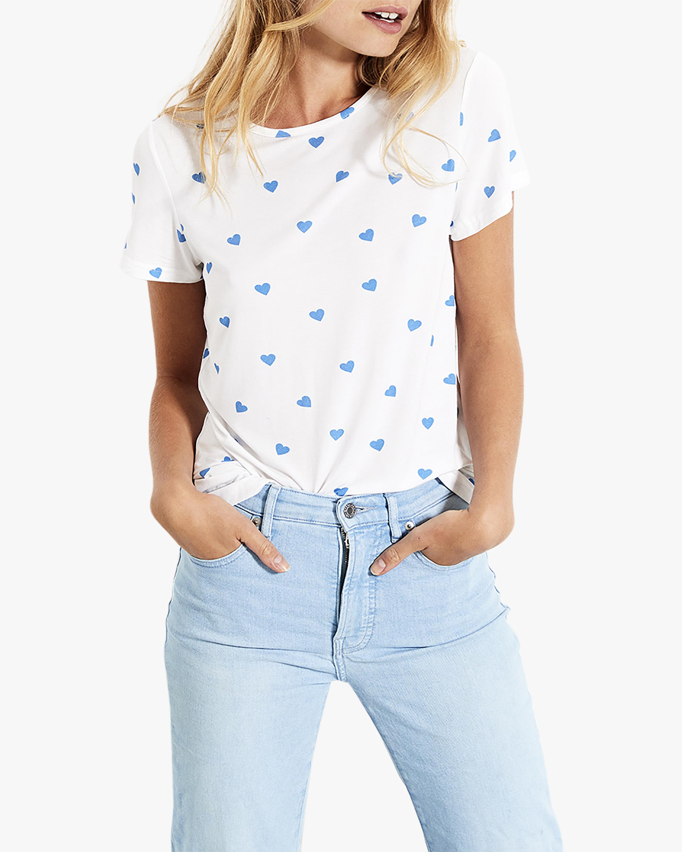 Stripe & Stare Blue Heart T-Shirt 0