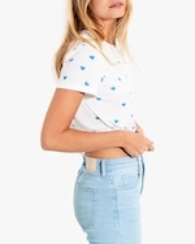 Stripe & Stare Blue Heart T-Shirt 1