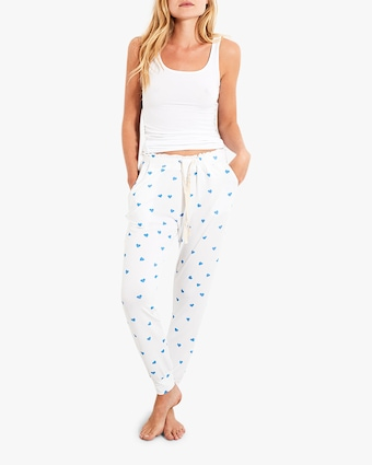 Stripe & Stare Blue Heart Lounge Pants 1
