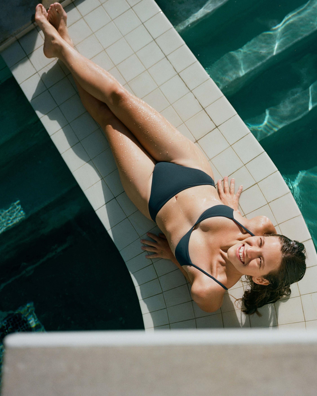 Anemos High-Cut Mid-Waist Bikini Bottom 1