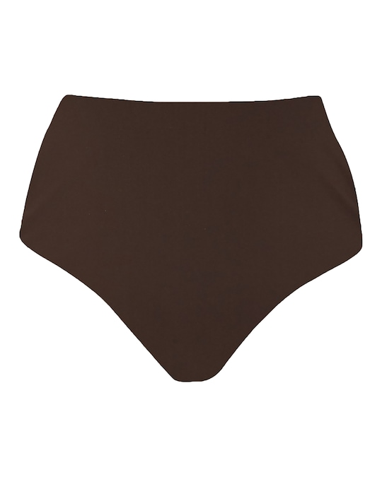 Anemos Espresso High-Waist Cheeky Bikini Bottom 0