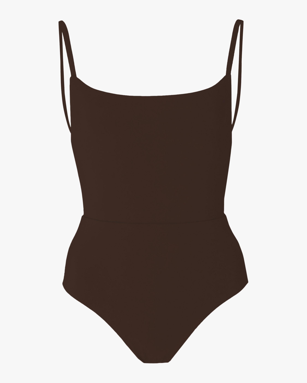 Anemos Espresso Square Neck Swimsuit 2