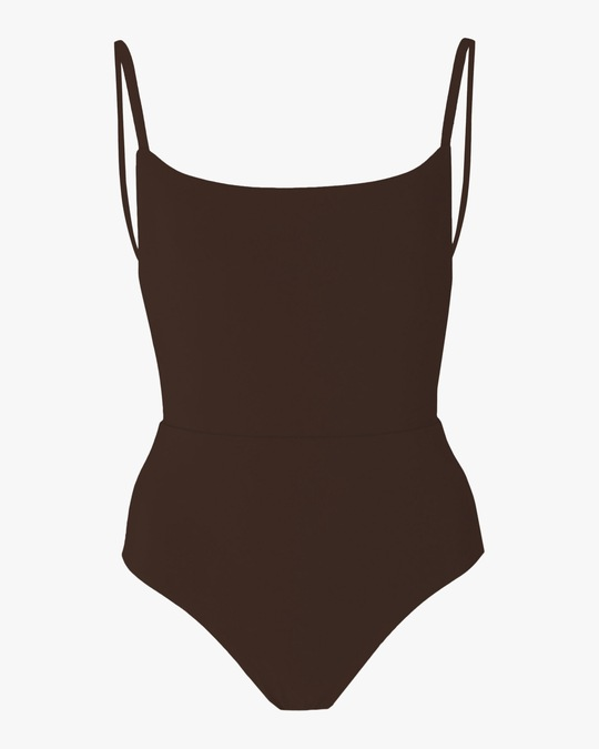 Anemos Espresso Square Neck Swimsuit 0