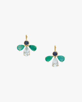 Yi Collection One of a Kind Gemstone Fauna Earrings 2