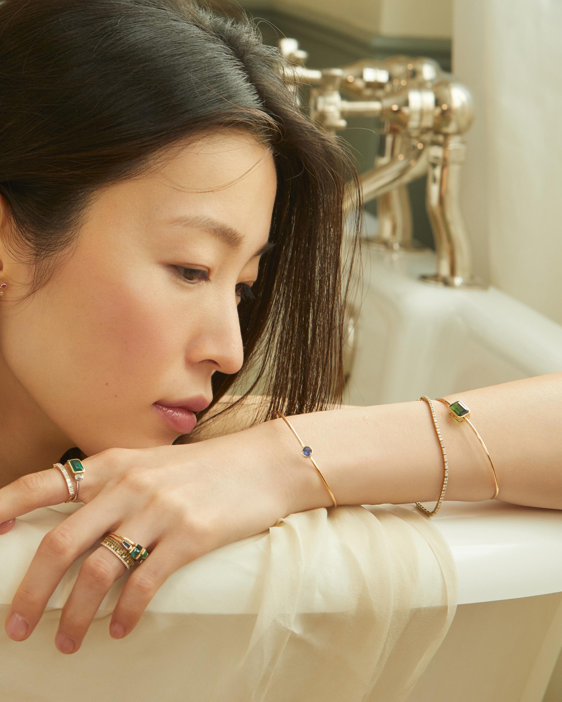 Yi Collection Emerald & Diamond Infinity Ring 2