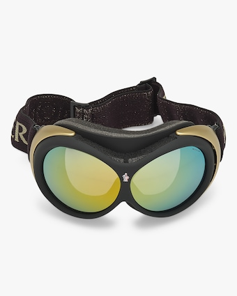 Moncler Black Mirrored Ski Goggles 1
