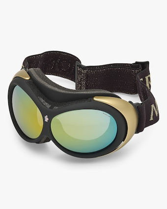Moncler Black Mirrored Ski Goggles 2