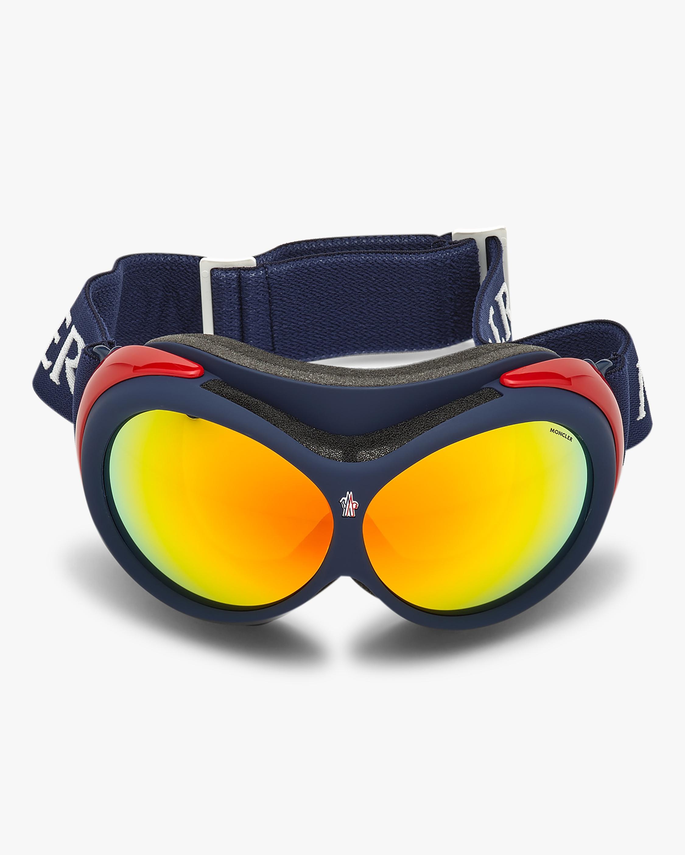 Moncler Blue Mirrored Ski Goggles 1