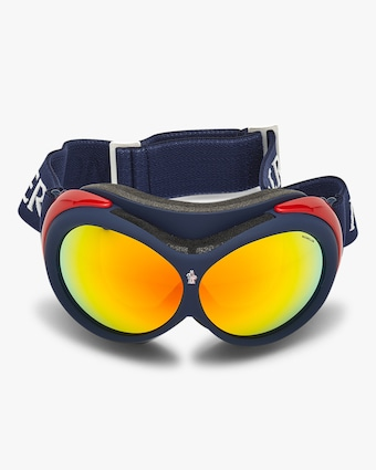 Moncler Blue Mirrored Ski Goggles 1