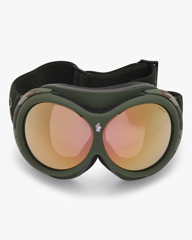 Moncler Matte Green Ski Goggles 0